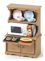 Sylvanian - Set armario con horno microondas