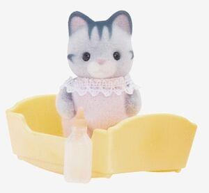 Sylvanian - Bebé Gato gris