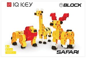 IQ KEY Block Safari 3x1 181pcs
