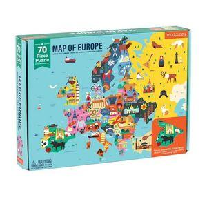 Mudpuppy - Puzle mapa de Europa 70p