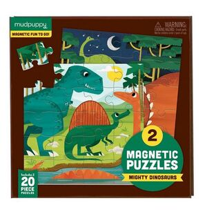 Mudpuppy - Puzle magnético Dinosaurios