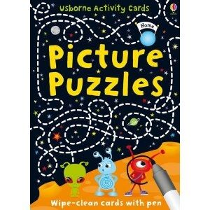 Picture Puzzles (Usborne Puzzle Cards)(wipe-clean cards with pen)