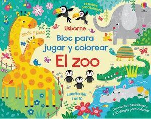 EL ZOO BLOC JUGAR Y COLOREAR