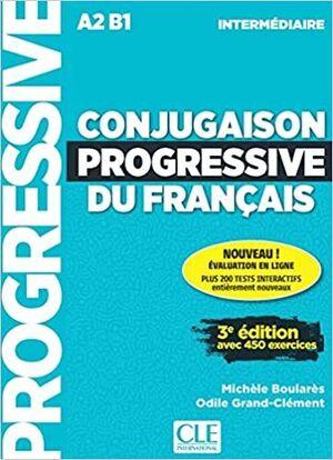 CONJUGAISON PROGRESSIVE DU FRANÇAIS - NIVEAU INTERMÉDIARE - LIVRE + CD - 3ª EDIT