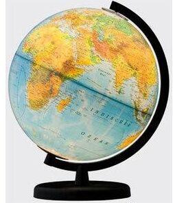 Globo Terraqueo Alta Definición Esp 26cm con luz Terra