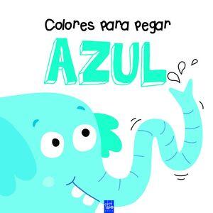 Colores para pegar. Azul