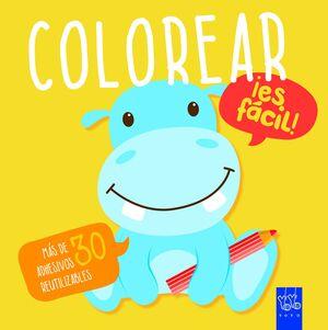 Colorear ¡es fácil! Hipopótamo