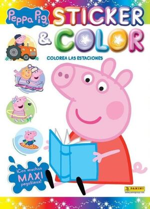 STICKER & COLOR PEPPA PIG COLOREA ESTACI