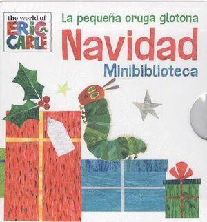 La pequeña oruga glotona Navidad minibiblioteca