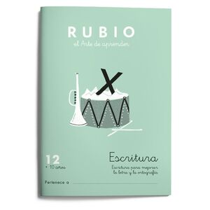Escritura RUBIO 12  10 años