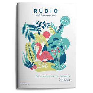 Mi cuaderno de verano RUBIO. 3-4 años