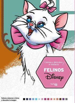 Colorea y descubre el misterio. Felinos Disney
