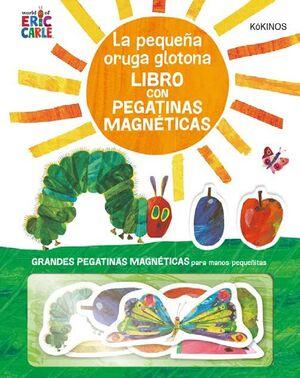 La pequeña oruga glotona con pegatinas magnéticas