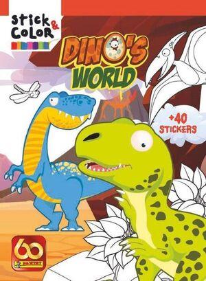 STICK & COLOR DINO'S WORLD
