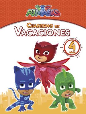 PJ Masks. Cuaderno de vacaciones - 4 años