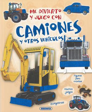 Me divierto y juego con camiones y otros vehículos