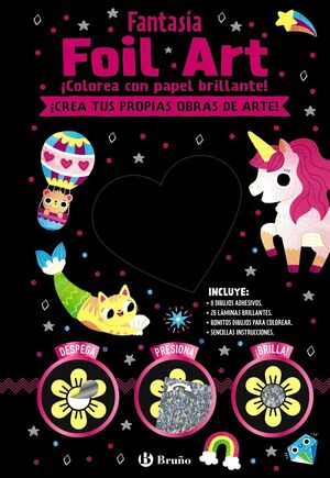 Foil Art. Colorea con papel brillante. Fantas�a