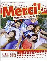 MERCI! 4 Pack libro y cuaderno francés