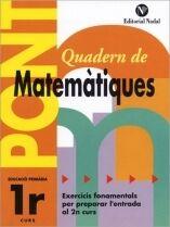 Pont matemàtiques, 1 Educació Primària