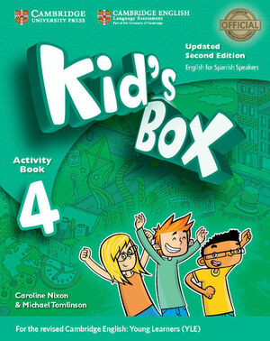 Kid's Box Level 4 Activity Book with CD ROM and My Home Booklet Updated English