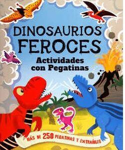 Dinosaurios feroces actividades con pegatinas
