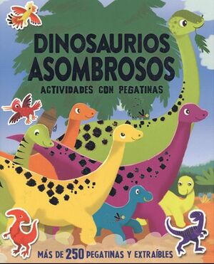 Dinosaurios asombrosos actividades con pegatinas