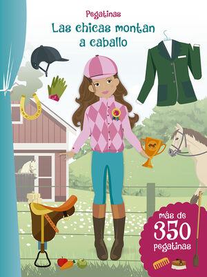 Pegatinas - Las chicas montan a caballo