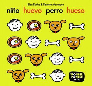NIÑO HUEVO PERRO HUESO