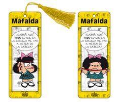 Marcapáginas 3D Mafalda (amarillo)