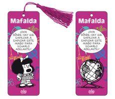 Marcapáginas 3D Mafalda (violeta)