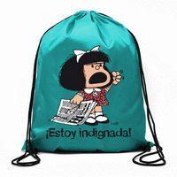 BOLSA DE CUERDAS MAFALDA - ESTOY INDIGNADA