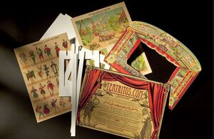 Teatritos - teatro en cartón de colores para montar - 3 modelos