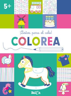 ¡LISTOS PARA EL COLE! COLOREA +5