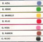 Mis siete colores preferidos